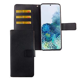 Samsung Galaxy S20 Tasche Handy-Hülle Schutz-Cover Flip-Case mit Kartenfach Schwarz