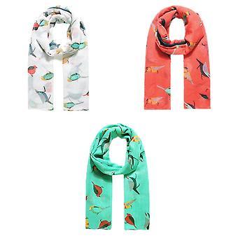 Jewelcity Womens / Dames Gevederde Tuin Friend Print Sjaal