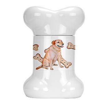 Carolines Treasures  CK2294BSTJ Labrador Retriever Bone Shaped Treat Jar