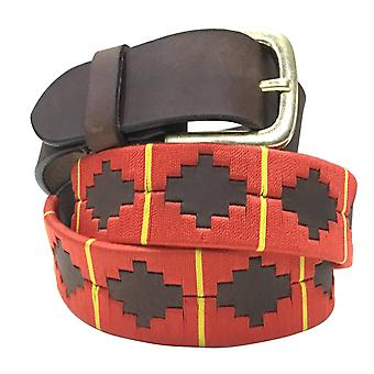 Carlos diaz unisex  brown leather  polo belt cdapb7