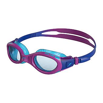 Speedo Futura Biofuse Flexiseal Junior Swimming Goggles Cushioned Fit - Purple