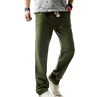 Pantalons décontractés Allthemen's Casual Pants Flax Loose Summer Casual Pantalons