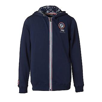 Funky Buddha Boys' Zip Up Hoodie With Embroidered Chest Patch