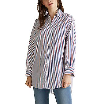 Esprit Women's Multicolor Stripes Oversized Shirt