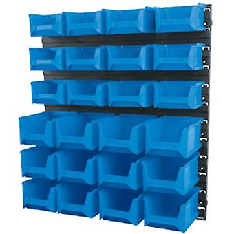 Draper 6798 24 Bin Wall Storage Unit (Small/Medium Bins)