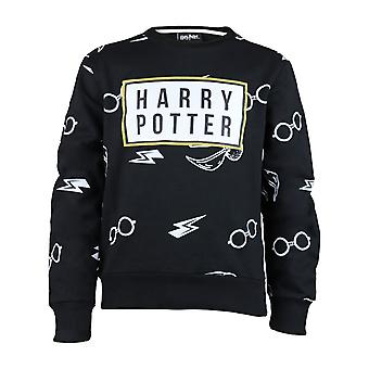 Harry Potter Icons Girls Crewneck Sweatshirt | Official Merchandise