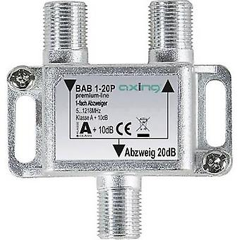 Axing BAB 1-20P Cable TV splitter 1-way 5 - 1218 MHz