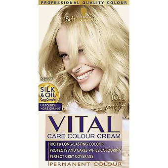 Schwarzkopf 3 X Vital Hair Colour - Light Ash Blonde 10-2