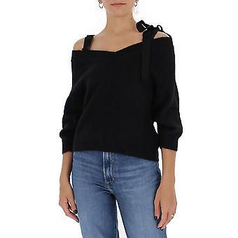 Rood Valentino Ur3kc00g59an01 Women's Black Cotton Top