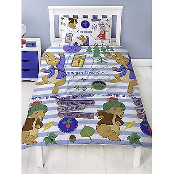 Cubierta de edredón simple Peter Rabbit y juego de fundas de almohada