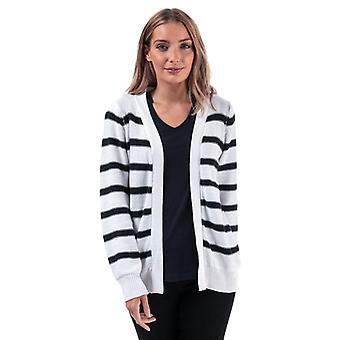 Femmes's Brave Soul Stripe Cardigan en blanc