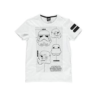 Men-apos;s Star Wars Imperial Army Stormtrooper T-Shirt blanc