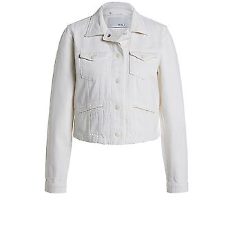 Oui Off White Denim Jacket