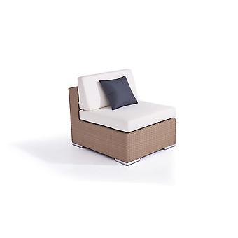 Polyrattan Cube Middle Ofa - karamel