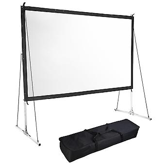 """Instahibit 135"""" Portable Fast Folding Projector Screen 16:9 HD with Stand and Carry Bag for Indoor Outdoor"""