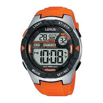 Lorus R2303NX-9 Orange Digital Multi-function Wristwatch