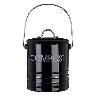 Svart kompostbehållare, 14.5cm