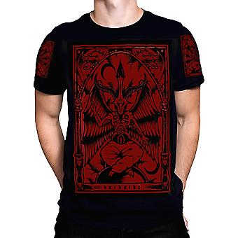 Dark Side-Baphomet-mens t-shirt in Limited Edition bloed rood
