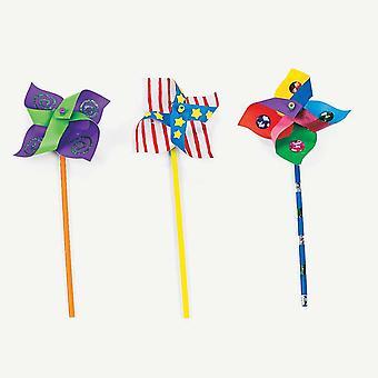 DIY Paper Pinwheel Kit - Makes 24 Windmills