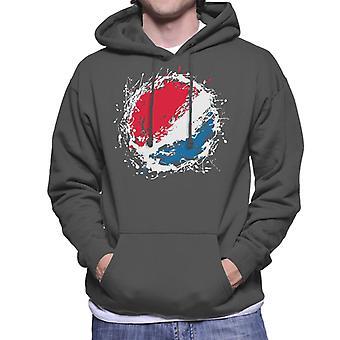 Pepsi Paint Splash Logo Men's Hooded Sweatshirt