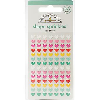 Doodlebug Design viel Liebe Form Sprinkles (98pcs) (6574)