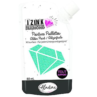 Aladine Izink Diamond Glitter Paint 24 karat turkis 80ml