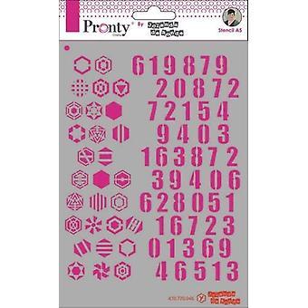 Pronty Crafts Pattern Numbers A5 Stencil