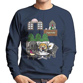 Aggretsuko Afternoon Tea Retsuko Rage Men's Sweatshirt