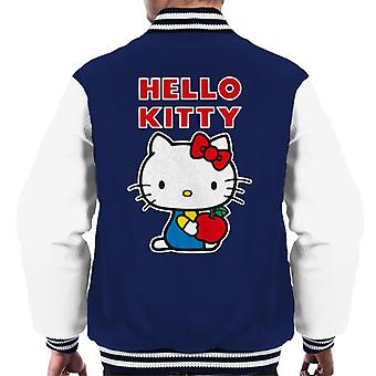 Hello Kitty Holding Apple Men's Varsity Jacket