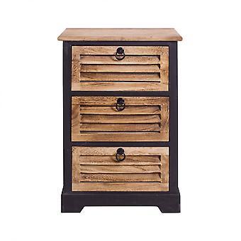 Rebecca Meble Comodini Mobile Bath 3 Miejskie szuflady z drewna vintage 63x40x27