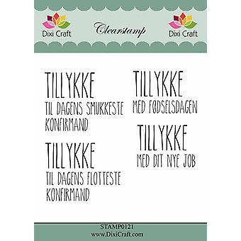 Dixi Craft Danish Text Clearstamp