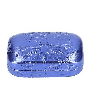 Blue Metallic Insect Embossed Small Trinket Box - Cracker Filler Gift