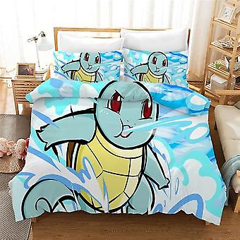 Pokemon 3d Printing Bedding Sets For Kids & Adult - Quilt Cover And Pillowcase No Sheets