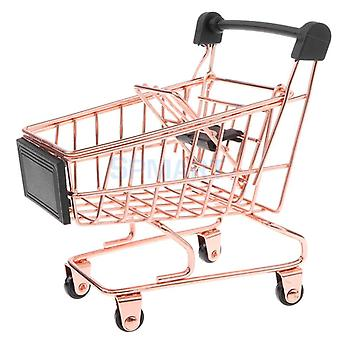 Mini Metal Shopping Cart Salesman Sample For Pretend Play Toy- Home / Office