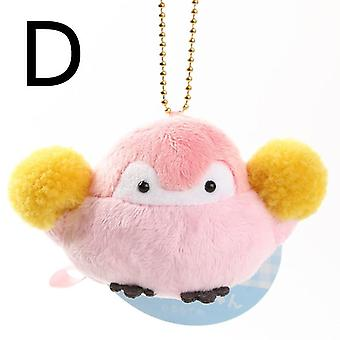 Positive Energy Penguin Plush Keychain Girls Bagss Pendant