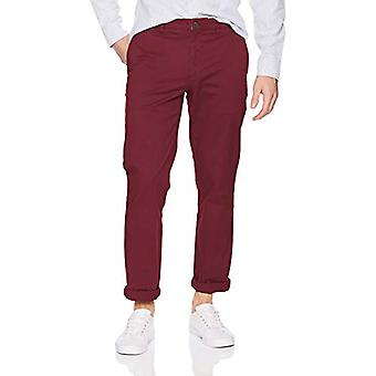 Märke - Goodthreads Mäns Straight-Fit Washed Comfort Stretch Chino Pant, Bourgogne, 32W x 30L