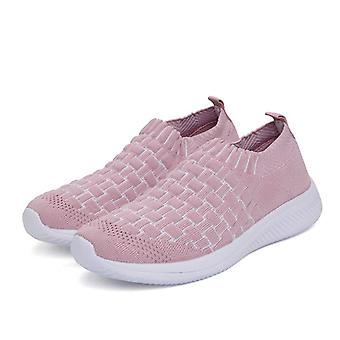 Scarpe da corsa Donne Slip-On Toe Flying Weaving Sneakers