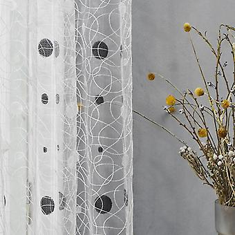 Bird Nest Sheer Curtains Dots For Kitchen, Living Room, Bedroom For Windows