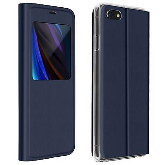 Volle Abdeckung für iPhone SE 2020/8/7 Display Fensterklappe - dunkelblau
