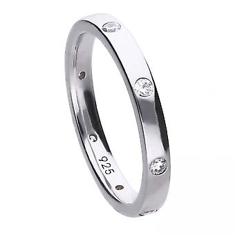 Diamonfire Silver White Zirconia Collectable Ring R3630
