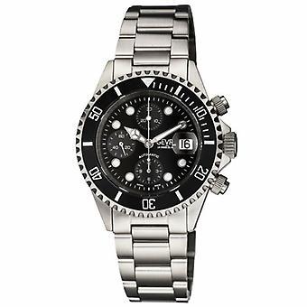 Gevril Mens 4157A Wall Street Eta Valjoux 7750 Zwitserse automatische chronograaf horloge