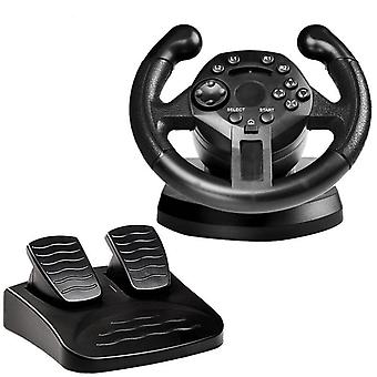 Racing-steering-wheel With Accelerator For Pc/ps3 High Rolling Sense Driving-steering-wheel (1)
