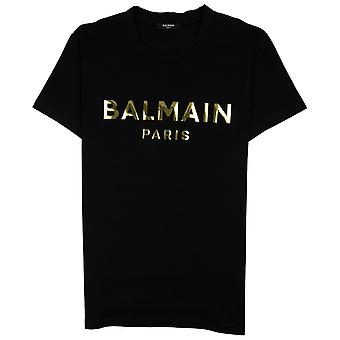 Balmain Metallic Logo T-Shirt Black
