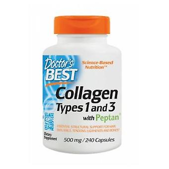 Doctors Best Collagen Types 1and 3 with Peptan, 500 mg, 240 caps