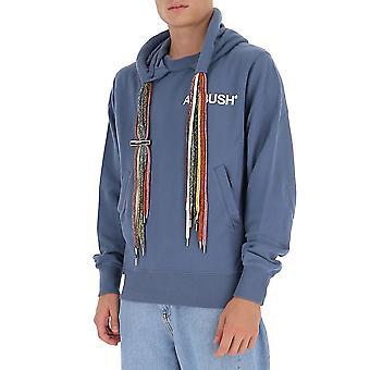 Ambush Bmbb003f20fle0016301 Men's Blue Cotton Sweatshirt