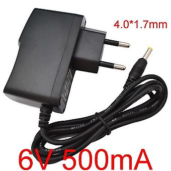 1pcs High Quality 6v 500ma 0.5a Universal Ac Dc Power Supply Adapter Wall Charger For Omron M2 Basic Blood Pressure Monitor (eu Plug)