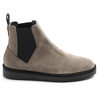 Panchic P01 Tortora In Wildleder Ankle Boot mit elastischen