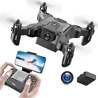 Stuff Certified® 4D-V2 Mini RC Drone with Camera - Pocket Quadcopter Toy with Gyro Stabilization Black
