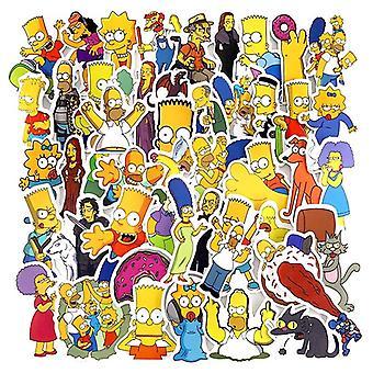 Anime Vinyl Cartoon Simpsons Stickers, Laptop Sticker Decal Fridge Skateboard