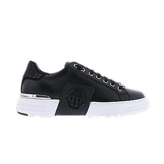 Philipp Plein Phantom Kick $ Lo-Top Nahka Musta WSC1925PLE075N02 kenkä